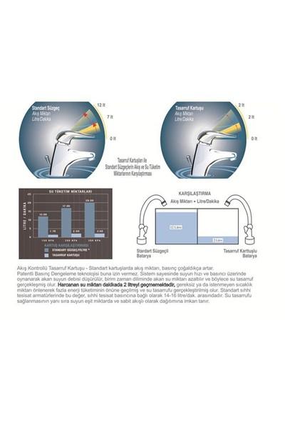Universal® Su Tasarruf Kartuşu - 2 Litre/Dakika (Tüm Musluklara Uyumlu)