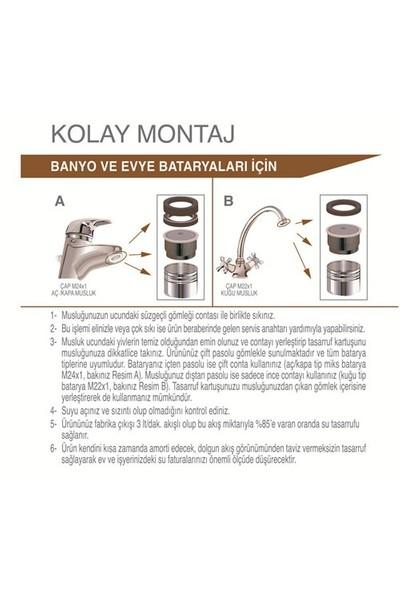 Universal® Su Tasarruf Kartuşu - 3 Litre/Dakika (Tüm Musluklara Uyumlu)