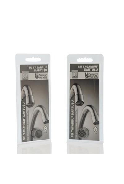 Universal® Su Tasarruf Kartuşu - 5 Litre/Dakika (Tüm Musluklara Uyumlu)