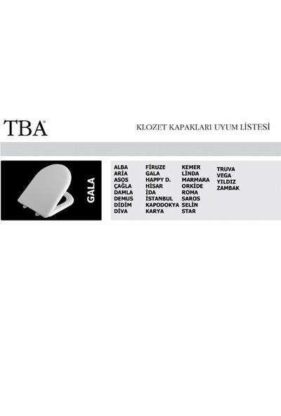 TBA GALA DUROPLAST KLOZET KAPAĞI BEYAZ / PLASTİK BAĞLANTILI K340004