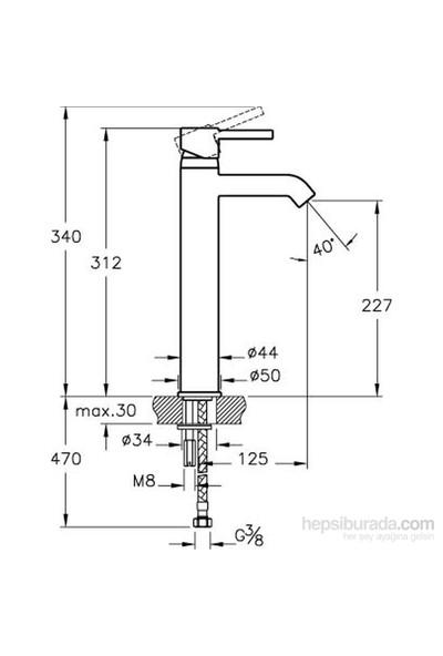Artema Minimax S Lavabo Bataryası (Yüksek)
