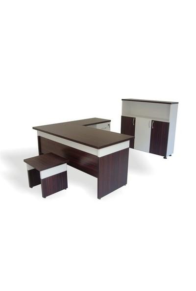 Vena Sıla Masa Takımı Abanoz-Beyaz