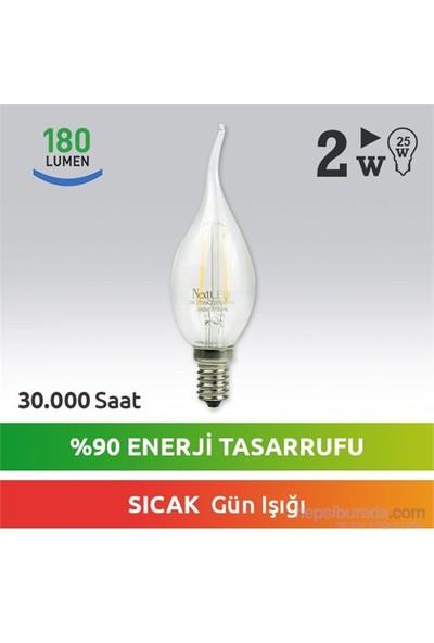 NextLED (Next&NextStar) E14 2W Kuyruklu Gün Işığı Led Ampul