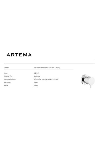 Artema Ankastre Stop Valf A41449 (Sıva Üstü)