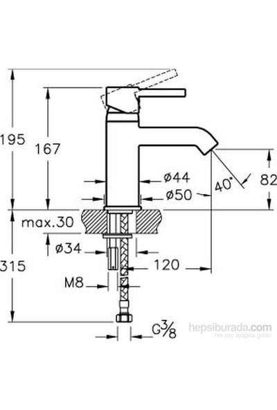 Artema Minimax S A41984 Lavabo Bataryası Krom