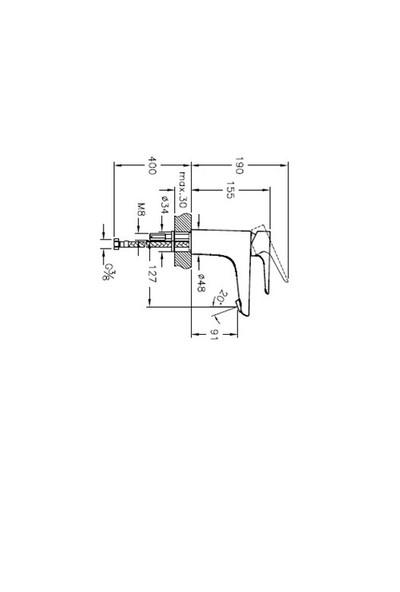 Artema X-Line A42321 Lavabo Bataryası Krom