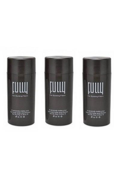 Fully3 Saç Tozu X 3 Adet Ekonomik Set - Siyah