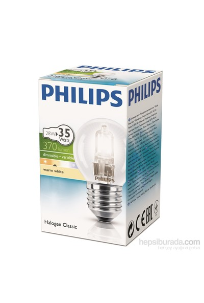 Philips Ecoclassic 28W Ampul E27 230V P45 1Ct/15 Srp