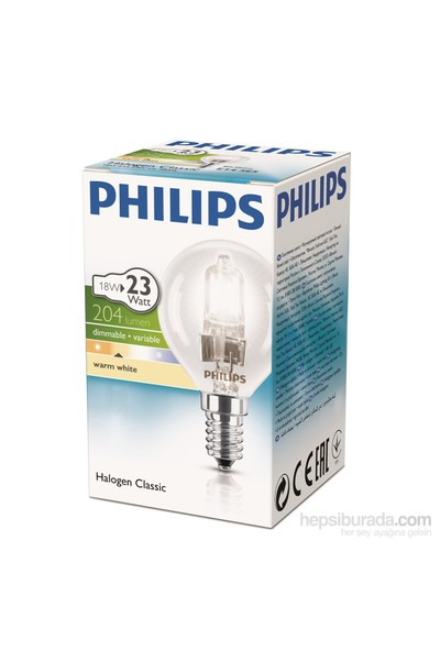 Philips Ecoclassic 18W Ampul E14 230V P45 1Ct/15 Srp
