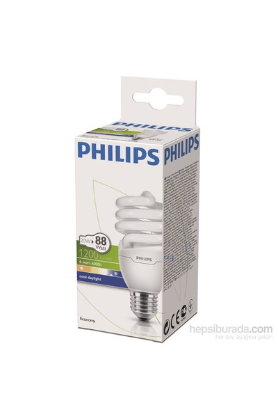 Philips EconomyTwister 20W Beyaz Işık Normal Duy