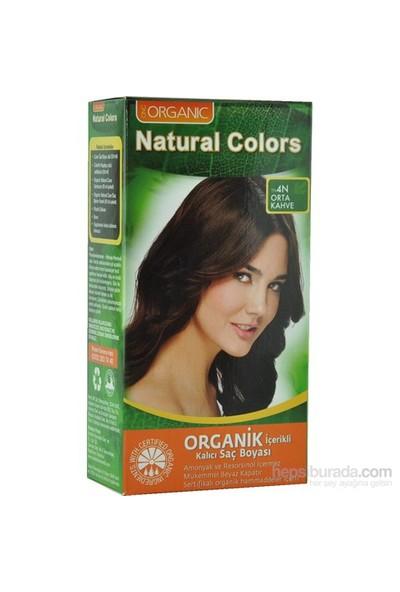 Organic Natural Colors 4N Orta Kahve Saç Boyası