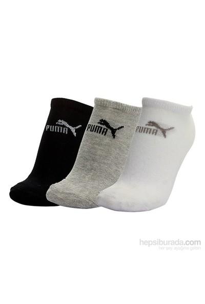 Puma Sneaker-V 3P 3'lü Çorap - (Gri/Beyaz/Siyah)