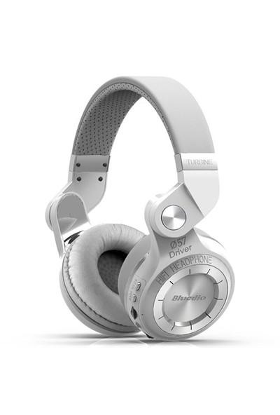 Bluedio T2 Kablosuz Bluetooth Kulaklık - Beyaz Headphone - SDTT2WHT