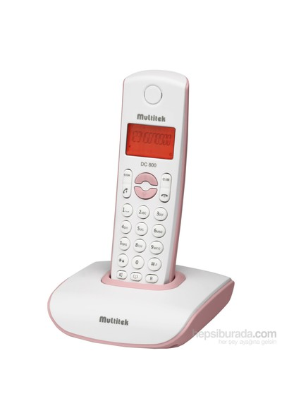 Multitek DC 800 Dect Telefon - Pembe