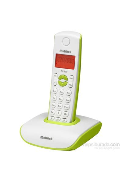 Multitek DC 800 Dect Telefon - Yeşil