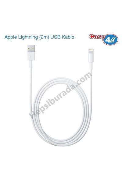 Case 4U Apple iPhone5-5S-5C-6-6 Plus-6S-6S Plus-7-7 Plus-8-8 Plus-X-iPad Lightning (2m) Şarj & Data Kablosu