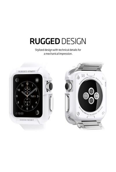 Spigen Apple Watch Kılıf Rugged Armor (38Mm) Smooth White - 11486