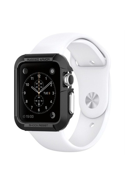 Spigen Apple Watch Seri 3/2/1 (42mm) Kılıf Rugged Armor - SGP11496