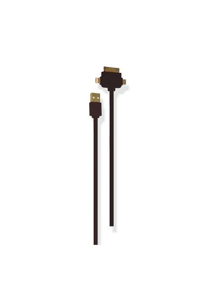 Petrix PFK700F iPhone 4/4s/5/5s Micro USB Şarj ve Data Kablosu - Siyah