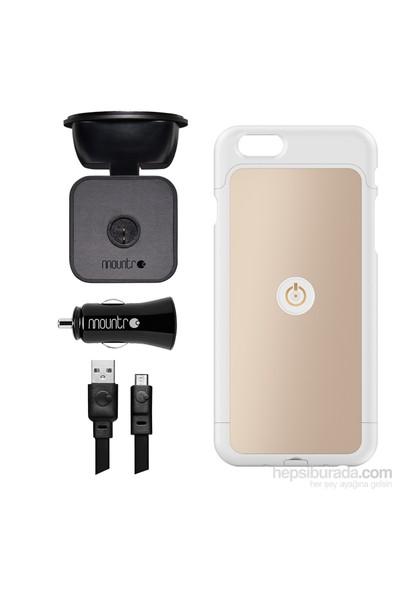 Mountr iPhone 6 Uyumlu Akıllı Araç Tutacağı ( Altın Renk Kapak ) - SK-SCM-i6A