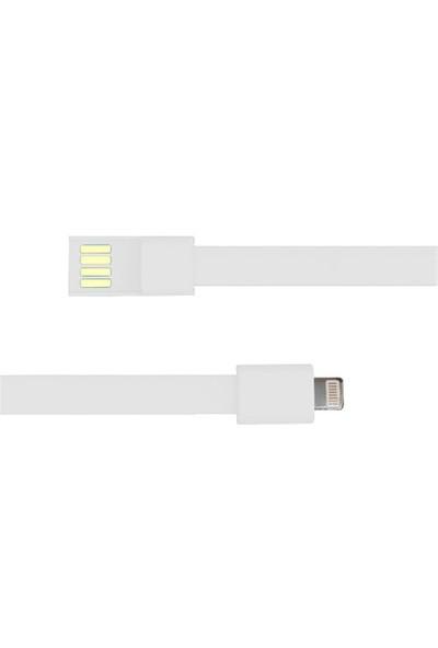 Codegen Apple iPhone 5/6/6s serisi uyumlu Bileklik Şarj Data Kablosu Beyaz - 599010224
