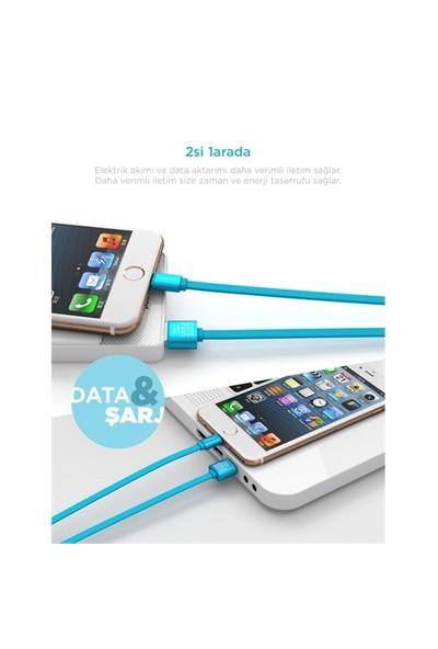 Pineng PN-302 iPhone Lightning Siyah Kablo