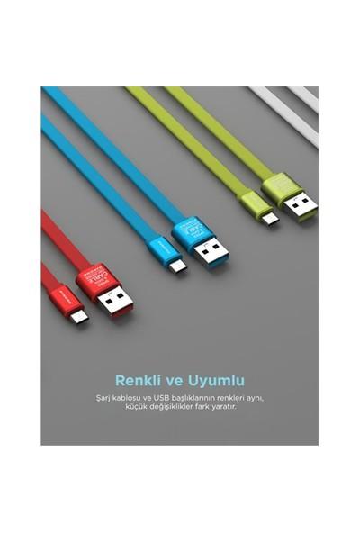 Pineng PN-303 Micro USB Kırmızı Kablo