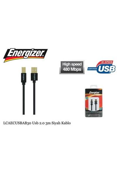Energizer LCAECUSBAB30 Usb 2.0 3m Siyah Kablo - 13886