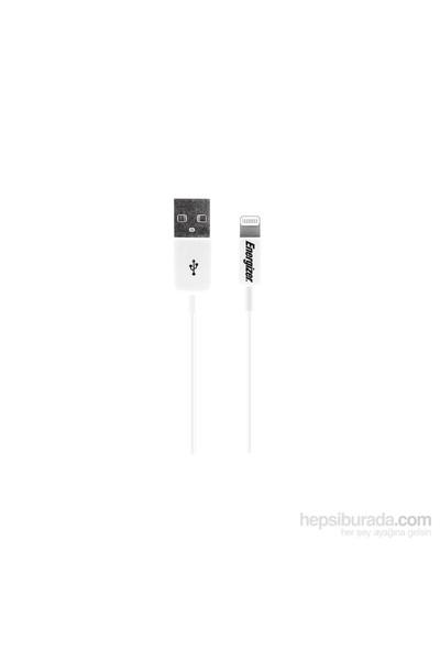 Energizer LCAEHUSYIPWH2 Lightning Usb 1m Beyaz Data + Şarj Kablosu