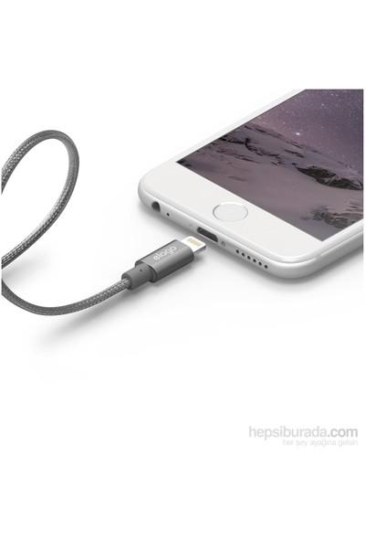 Elago Apple Mfi Sertifikalı Çelik Örme Lightning Şarj Kablosu - Silver