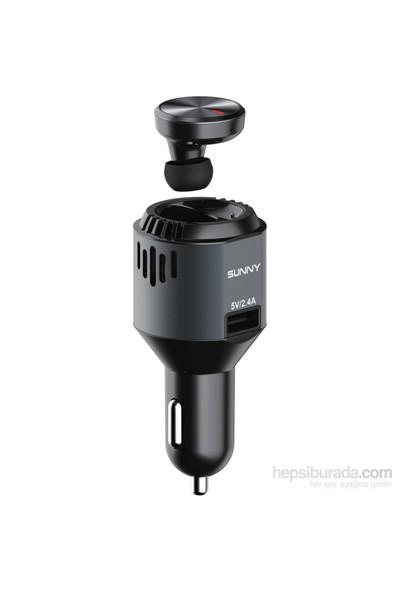 Sunny Smarttool S30 Bluetooth Kulaklık Araç Şarjı ve Hava Temizleyici Kit
