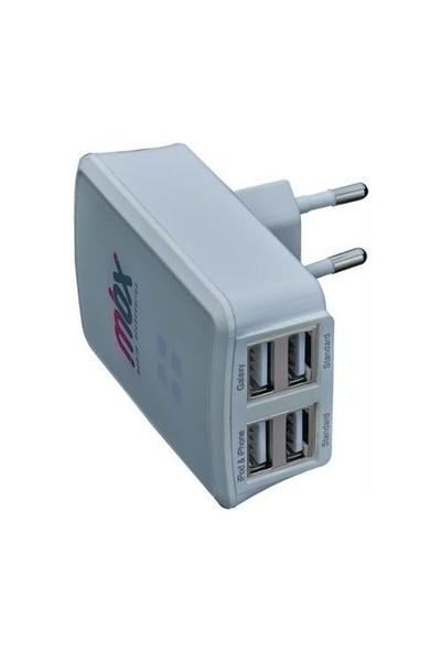 Mbx Universal 4 USB Girişli Şarj Adaptörü - 24.MBX.SC.SY.01