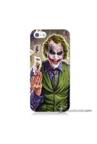 Teknomeg İphone 5S Kılıf Kapak Kartlı Joker Baskılı Silikon