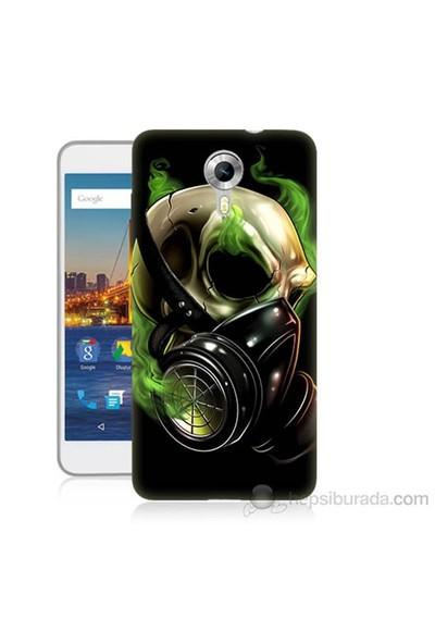 Teknomeg General Mobile Discovery 4G Android One Ölüm Maskesi Baskılı Silikon Kapak Kılıf