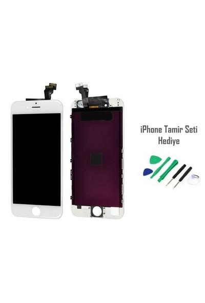 iPhone 6 Beyaz Ekran Lcd Tamir Seti Hediyeli