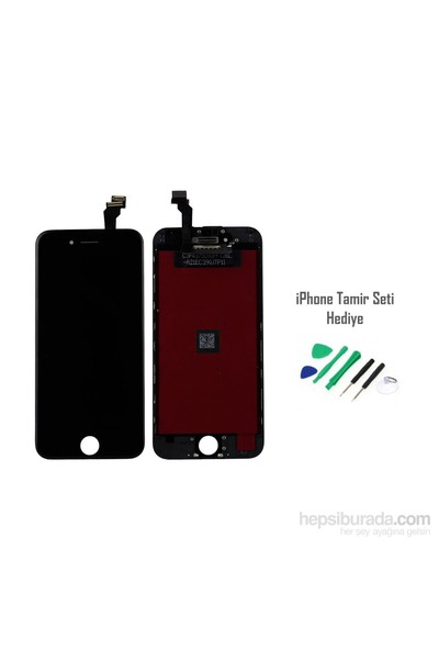 iPhone 6 Plus Siyah Ekran Lcd Tamir Seti Hediyeli