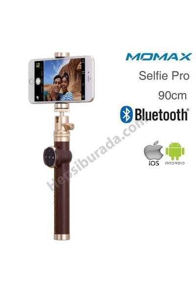 Momax Selfie Pro Bluetooth Selfie Çubuğu 90 cm Kahverengi
