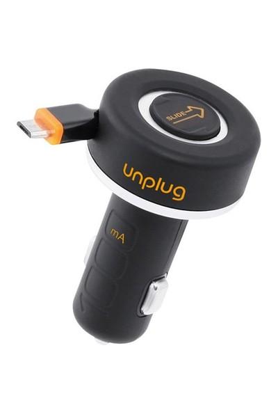 Unplug Micro Usb Araç Şarj Cihazı Ve Kablo (Retractable)