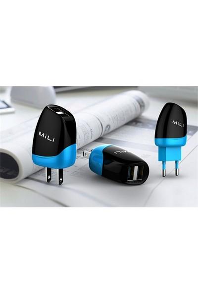 Mili Dolphin iPhone 6-5-5S-5C Lisanslı Ev Şarjı Cihazı (8 Pin Kablolu) - Siyah