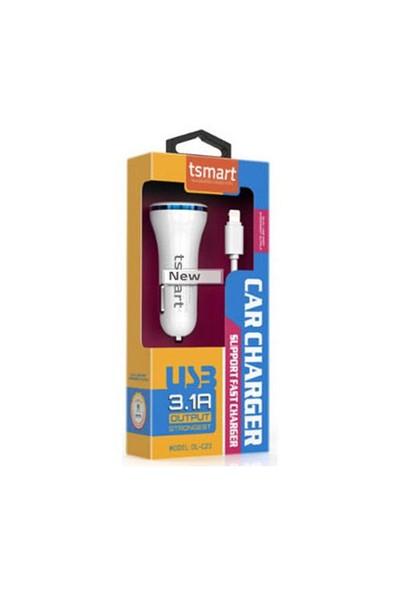 Tsmart Micro Usb Kablolu Araç Şarjı 3.1A