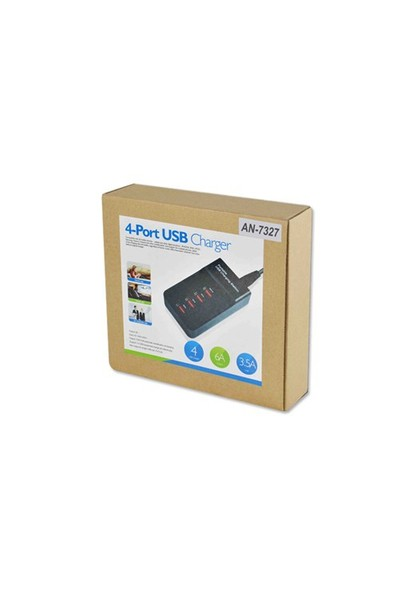 Cyber 4 Port Usb Girişli Masaüstü Telefon Şarj
