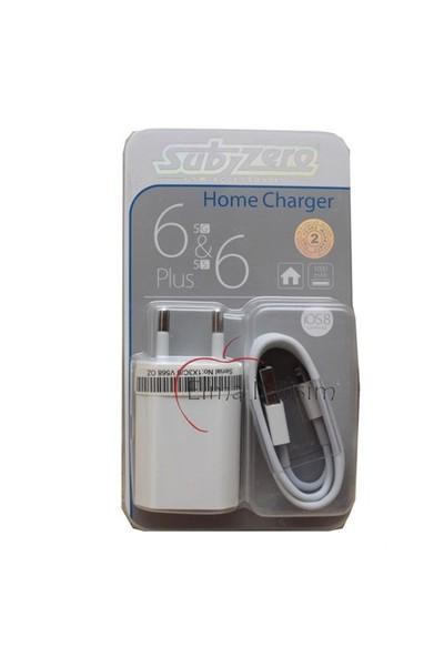 Subzero Şarj Aleti + Data Kablosu Iphone 5G 5S 6 6 Plus