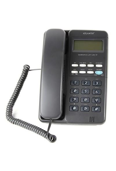 Atlantis 90 Ekranlı Masa Telefonu - Siyah
