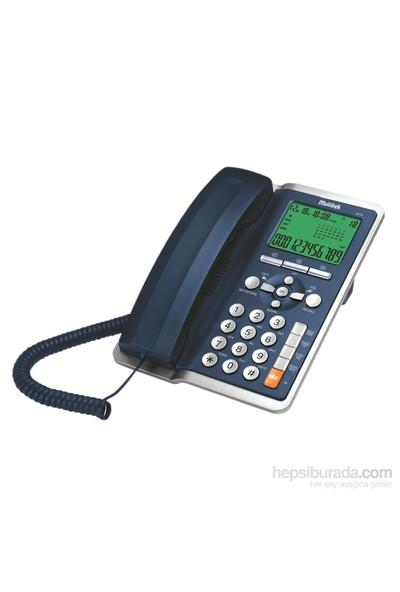 Multitek MC 130 Cid. Masa Telefonu Koyu Mavi(Lacivert)