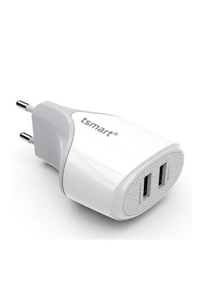 Tsmart Micro Usb Kablolu Çift Usb Ev Şarjı