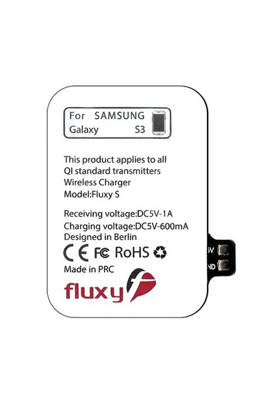 Fluxy S3-Samsung Galaxy S3 için Kablosuz Şarj Aparatı