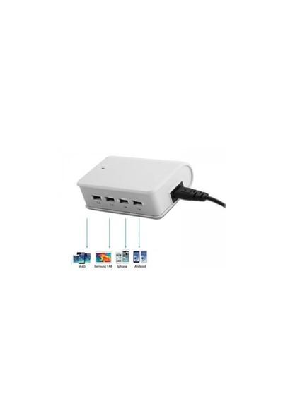 S-Link Sl-M10 6.2A 4*Usb Beyaz Usb Şarj