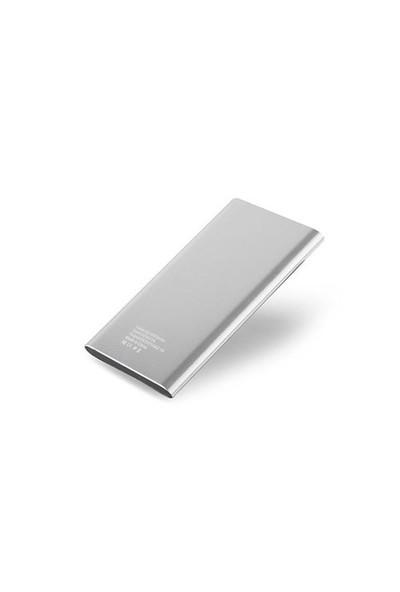 S-Link 4000Mah Slim Powerbank Gümüş 1-2A Alüminyum Ip-P22 Taşınabilir Pil Şarj Cihazı