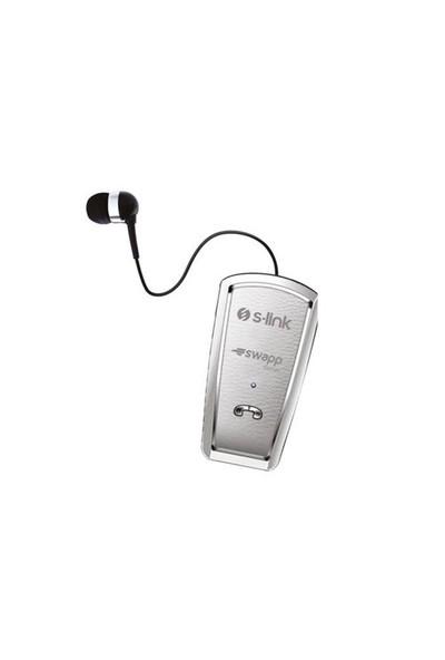 S-Link Swapp Sw-Bt9 Mobil Telefon Uyumlu Makaralı Beyaz Bluetooth Kulaklık