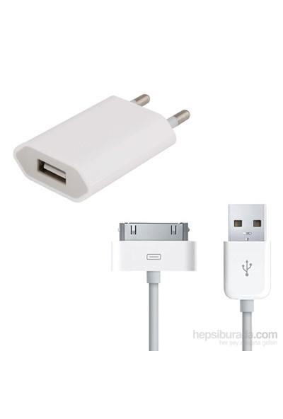 Case 4U iPhone 4/4S Şarj Seti